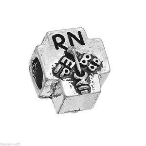 RN Registrations Nurse Silver European Bracelet